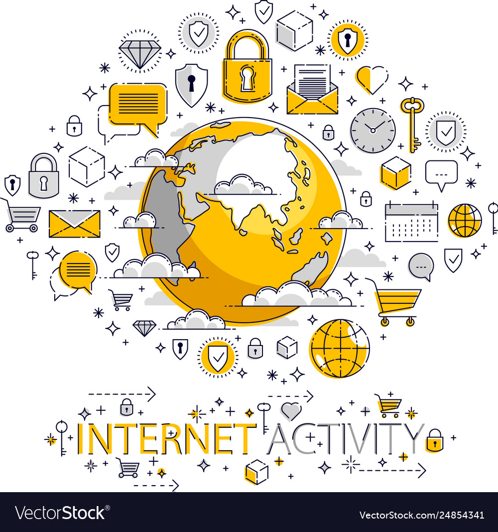 Global internet connection concept planet earth