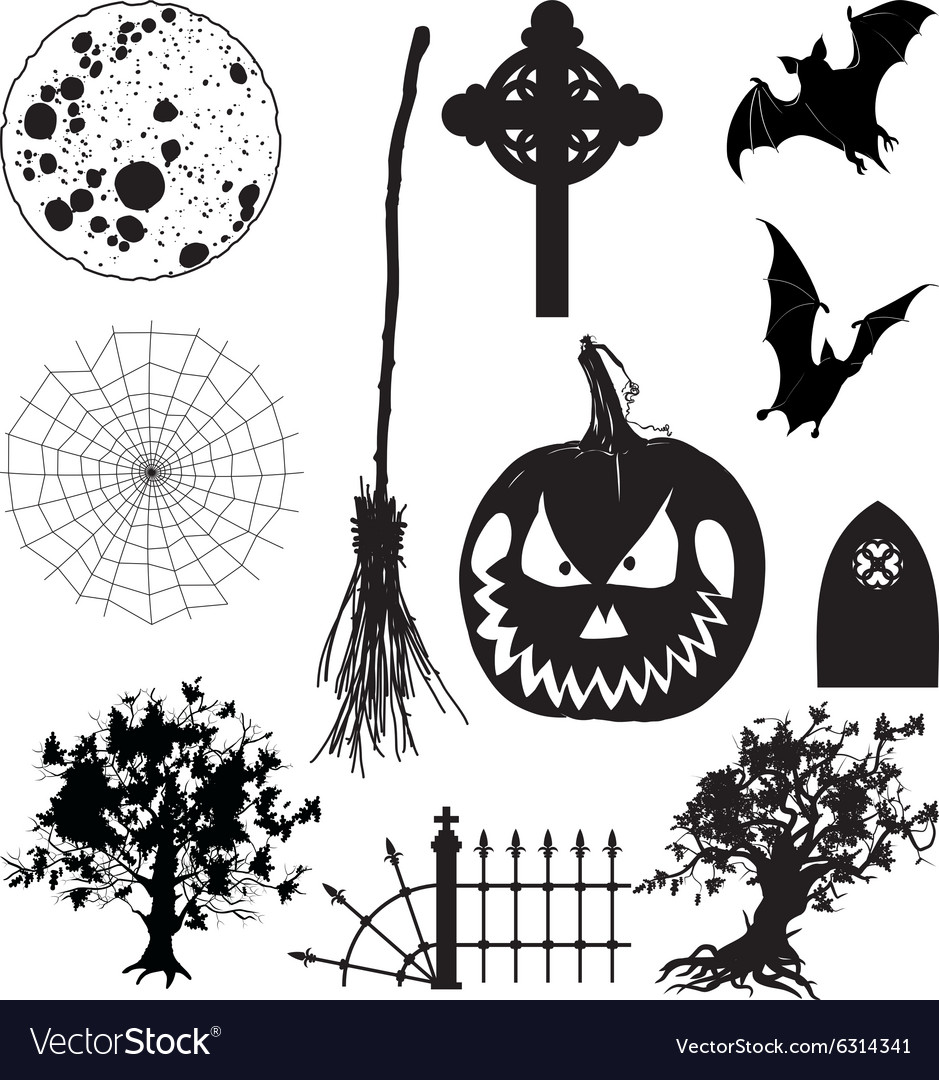 Icons Halloween Set vector