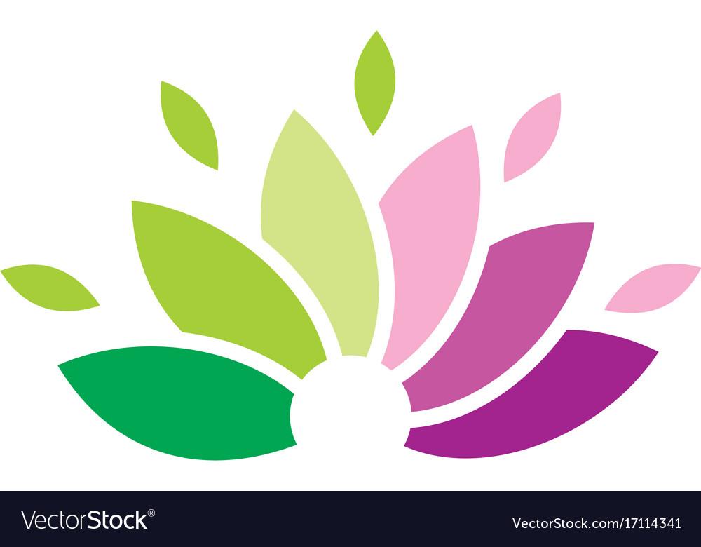 lotus flower logo royalty free vector image vectorstock rh vectorstock com