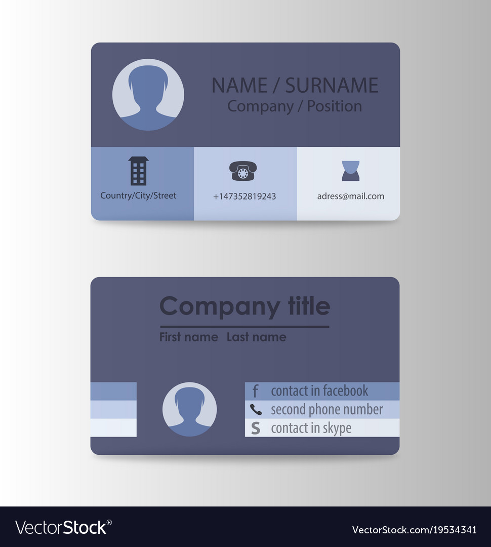 Modern business card print templates personal vector image reheart Image collections