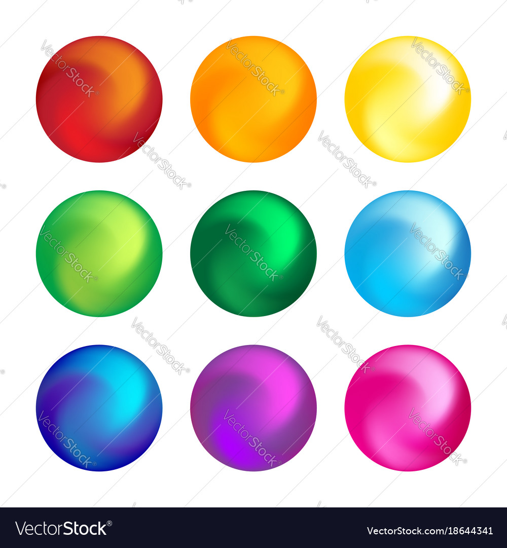 Rainbow color ball threedimensional set design