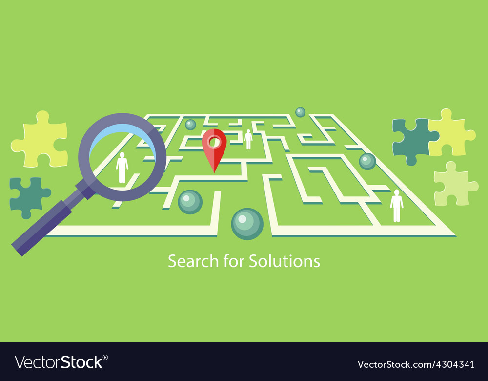 Search for Solution Maze