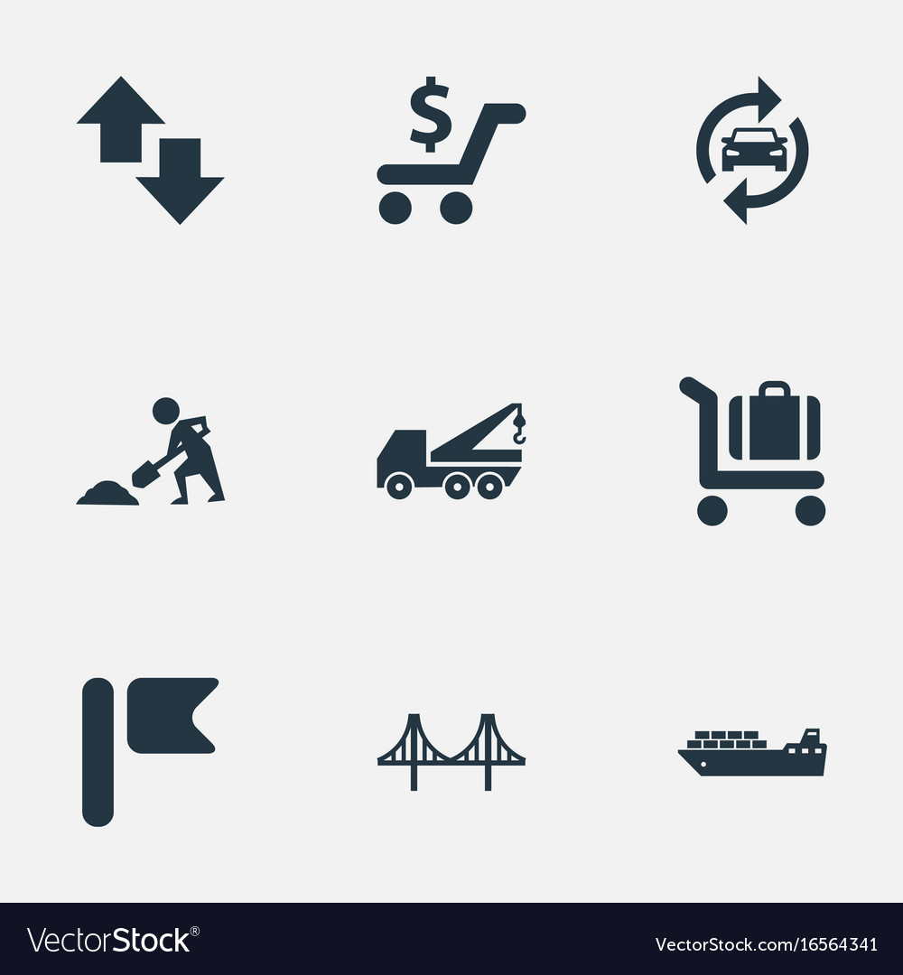 Set of simple city icons