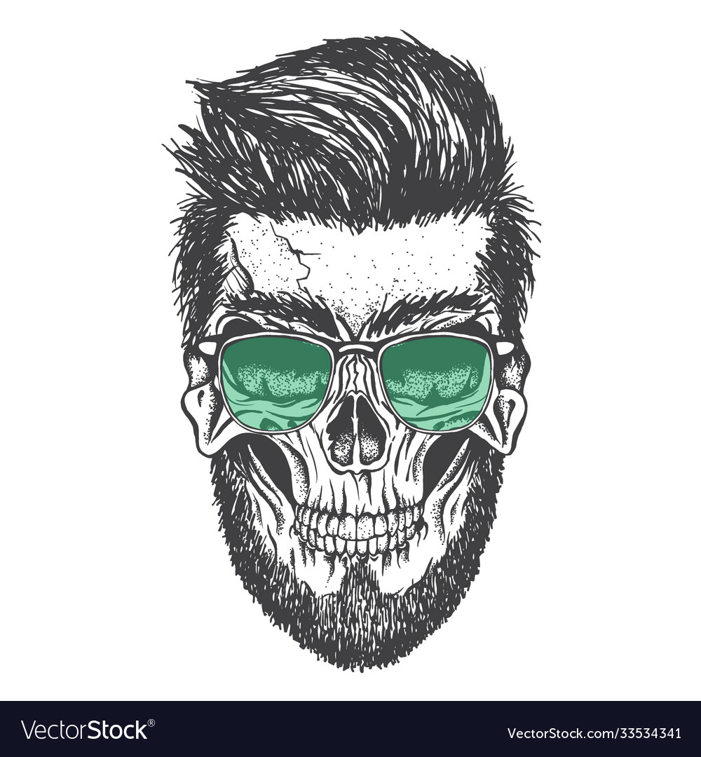 Skull and his modern hairstyle