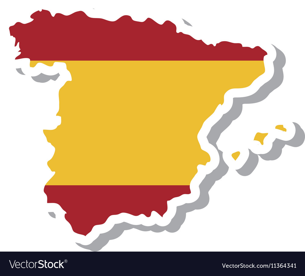 Spain map geography isolated icon