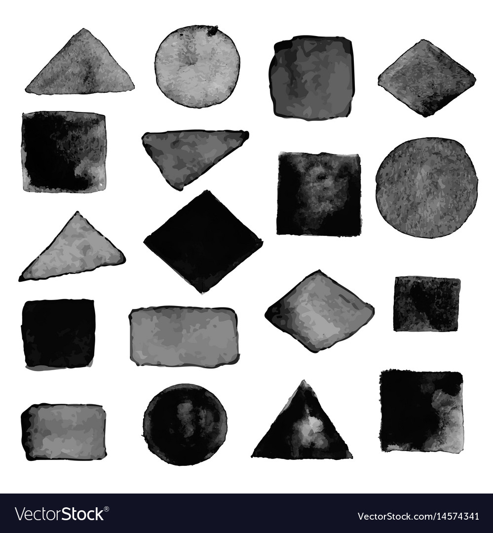 Watercolor geometric design elements17 vector image