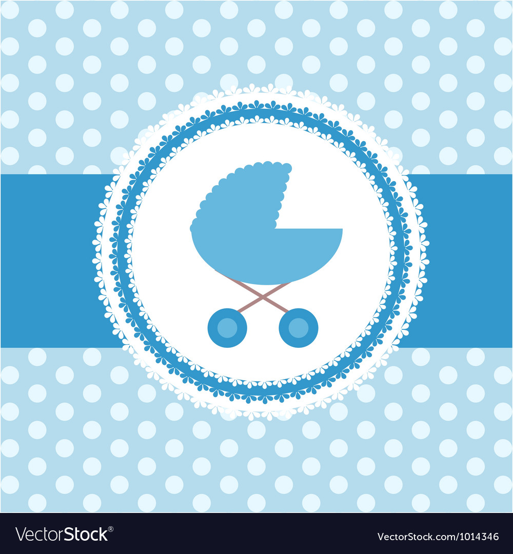 Cute Baby Boy Greeting Card Royalty Free Vector Image