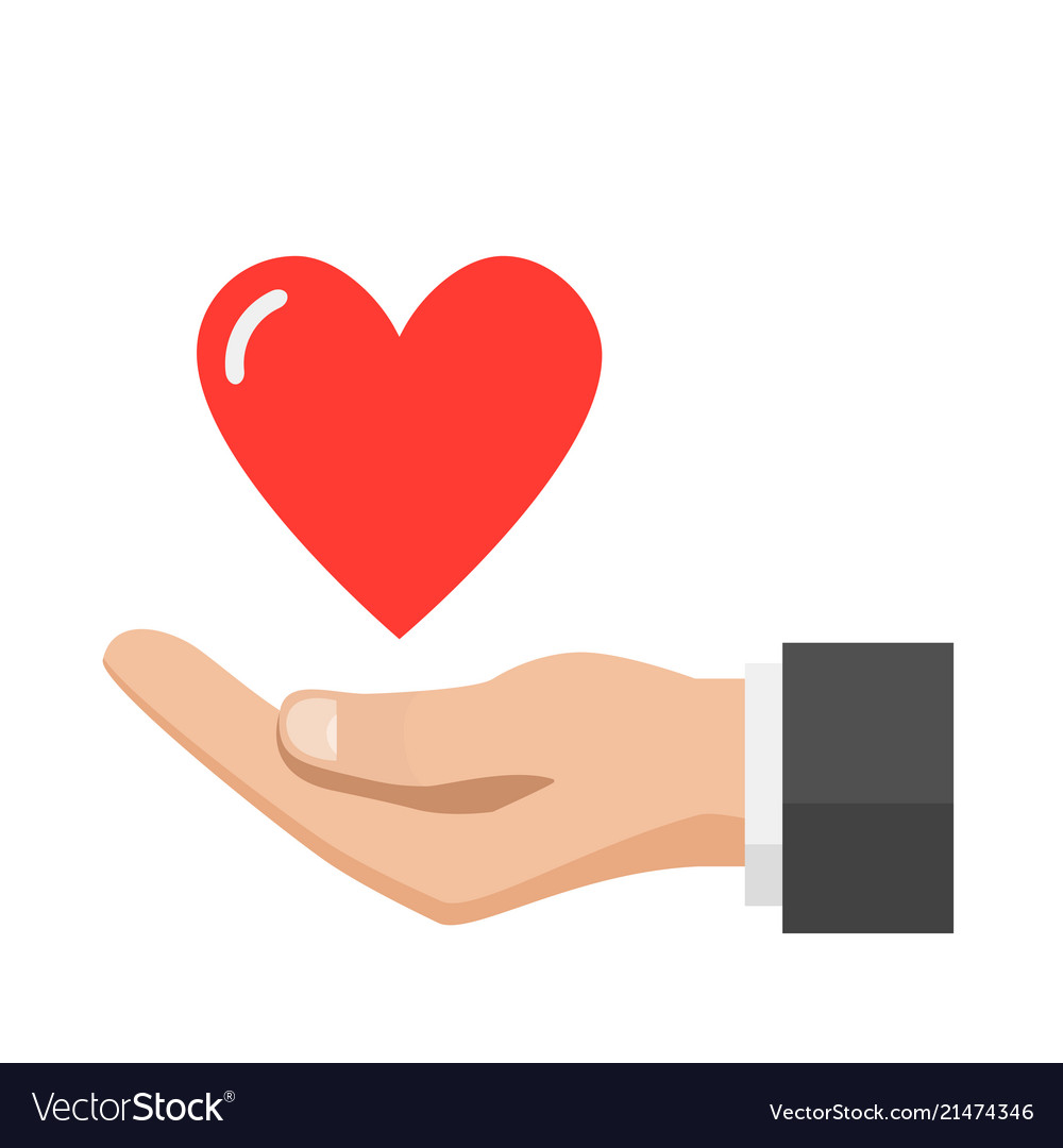 Hand giving heart love concept