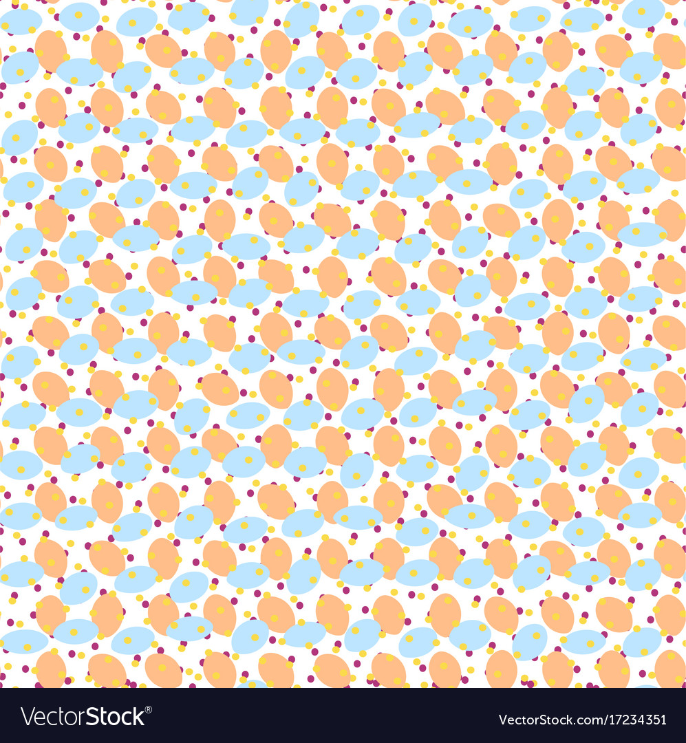 Blue beige pattern with ovals and dots