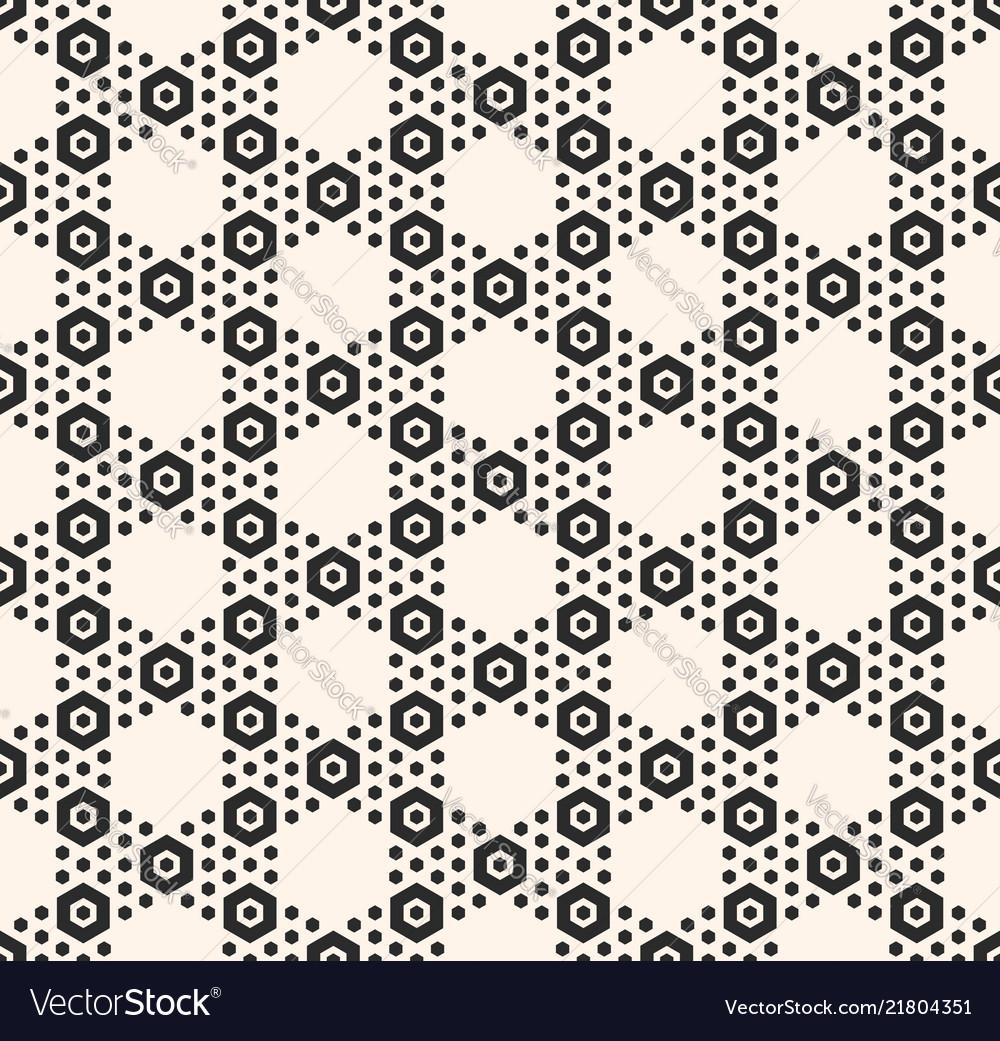 Geometric hexagon seamless black pattern