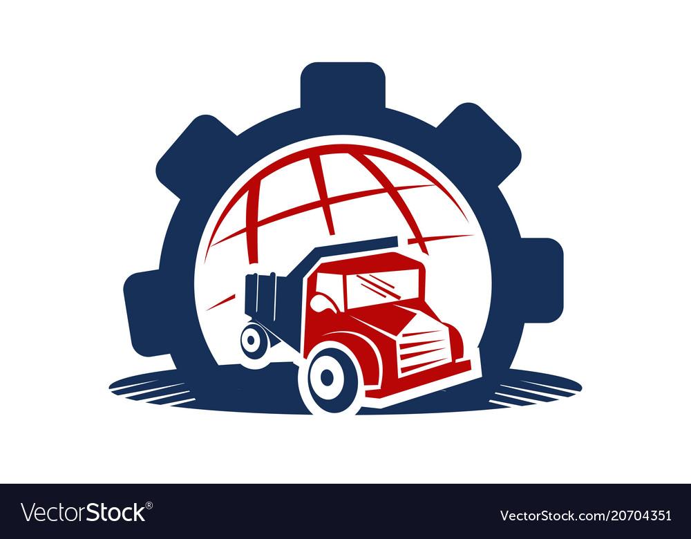 Global gear auto vector image