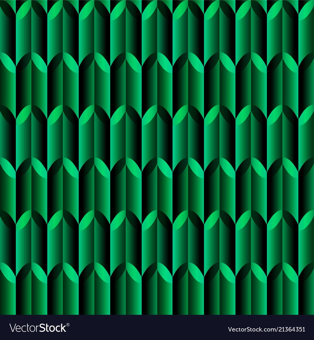 Green mosaic geometric seamless pattern with