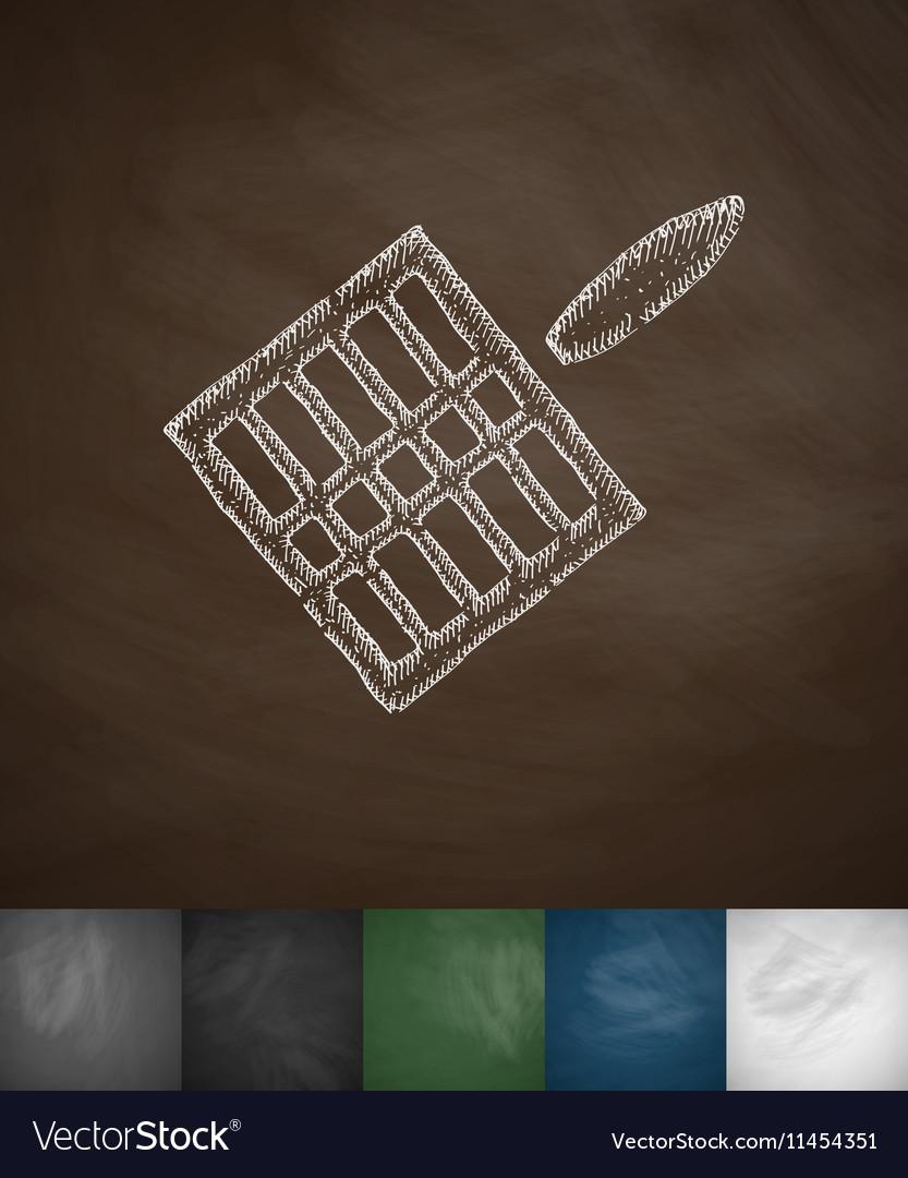 Gridiron icon Hand drawn vector image