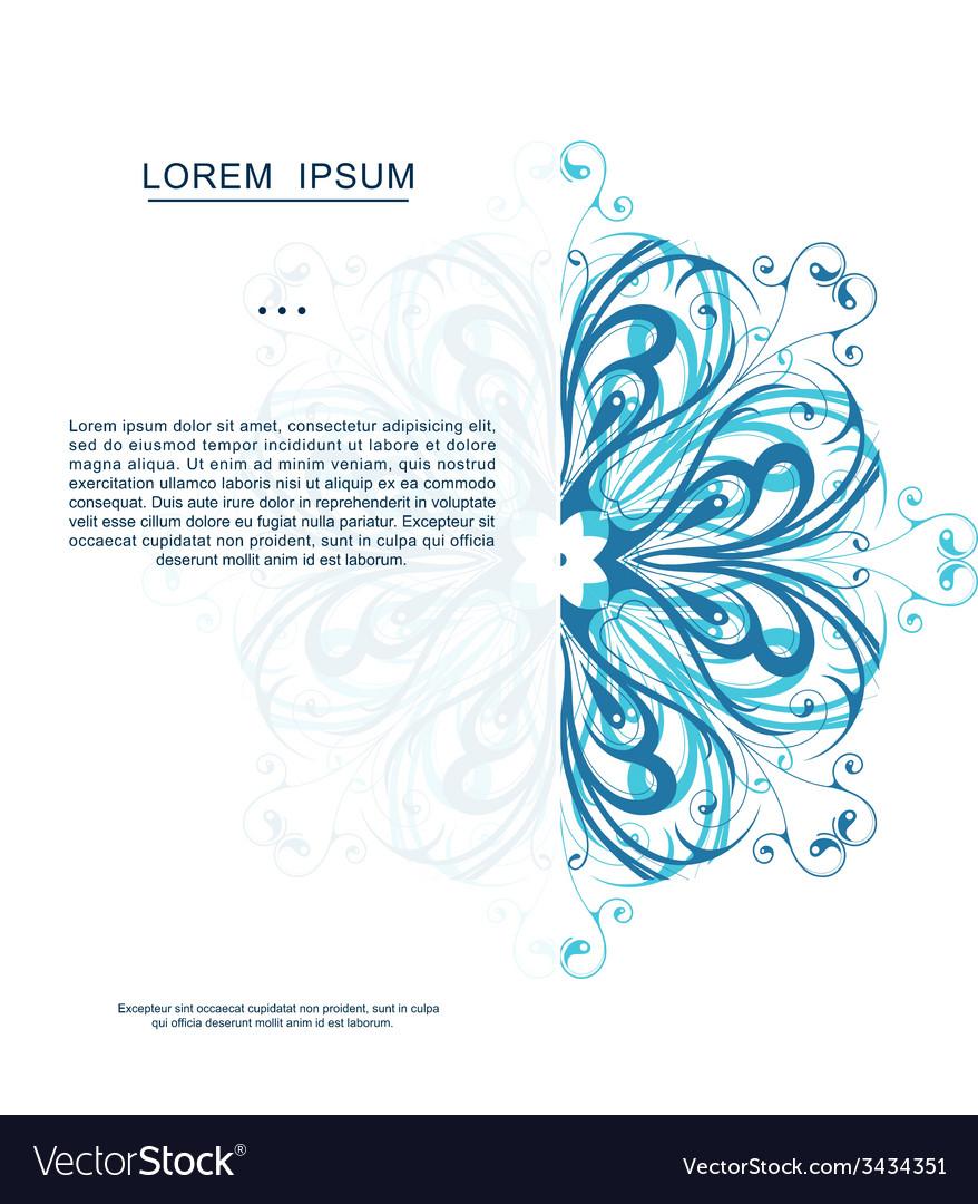 Invitation card design with snowflake