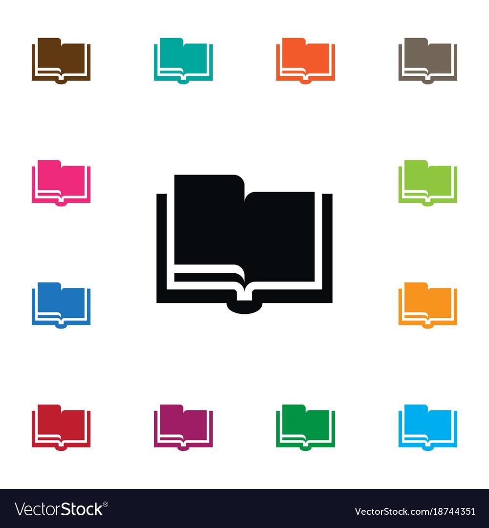 Isolated encyclopedia icon studying