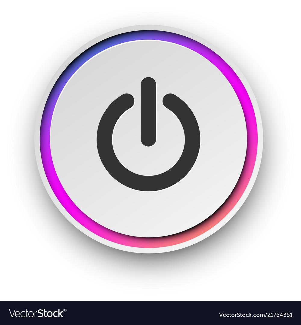 Round spectrum turn on - off button