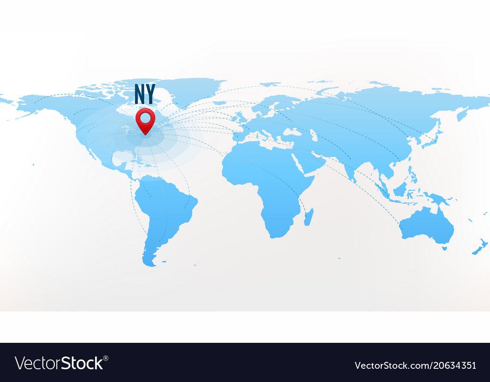 Travel destination new york concept international
