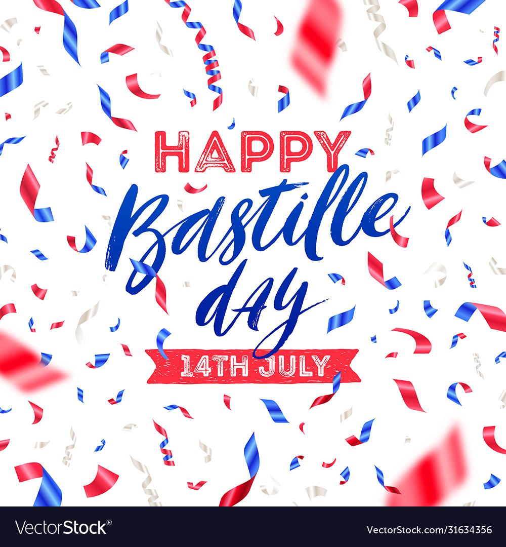 Bastille day with confetti