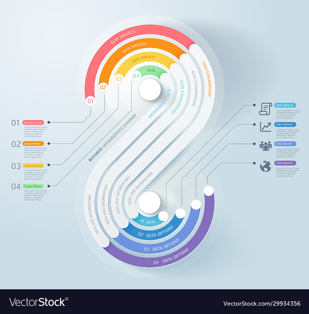 Business infographics timeline template background