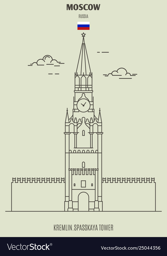 Kremlin spasskaya tower in moscow