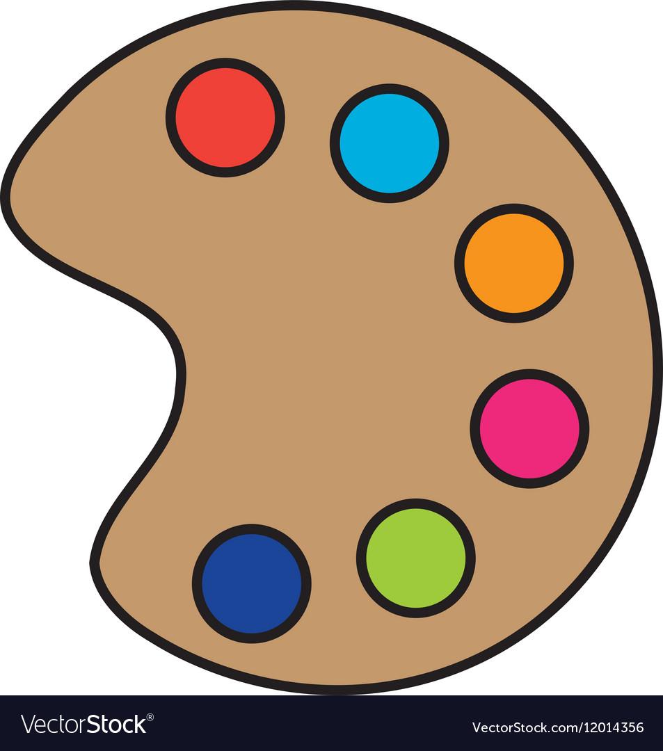 Paint palette icon vector image