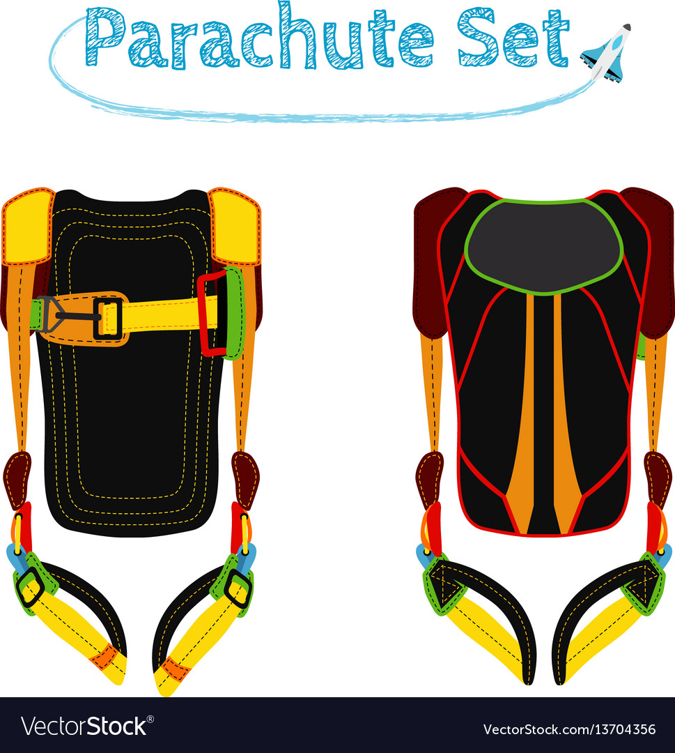 Parachute pack bright extreme sport equipment for