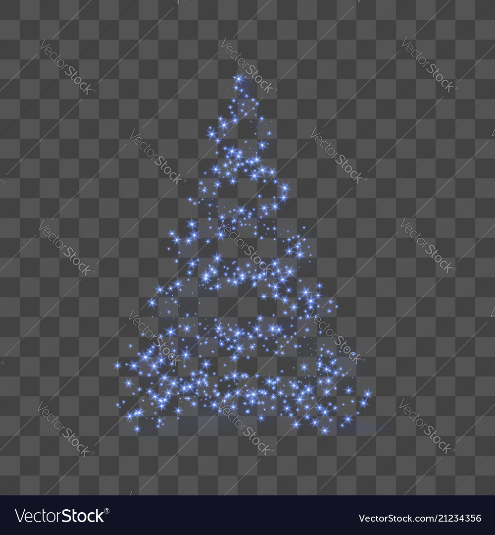 Stylized blue christmas tree 3d as symbol of happy