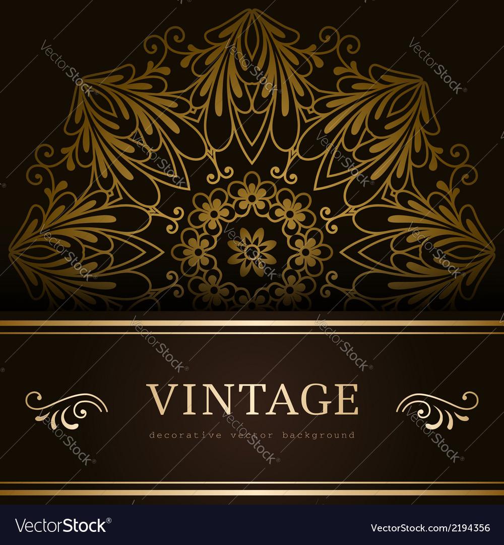 Vintage gold backround
