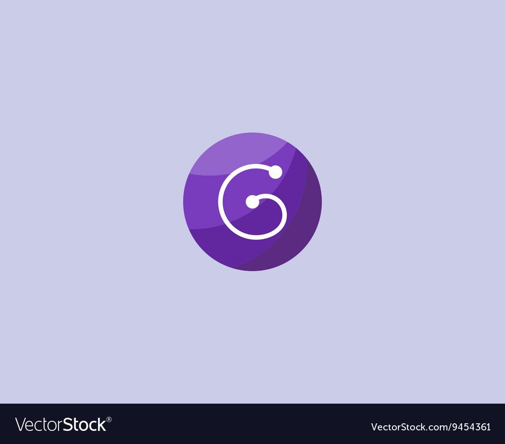 Abstract letter G logo design template Dot line