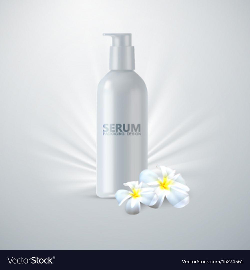 Anti age serum packaging vector image