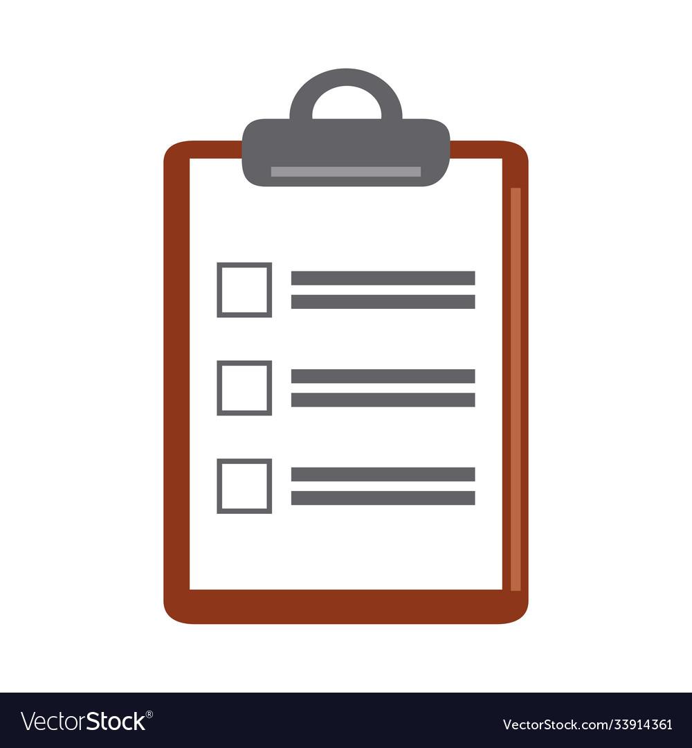 Data analysis clipboard list check marketing flat