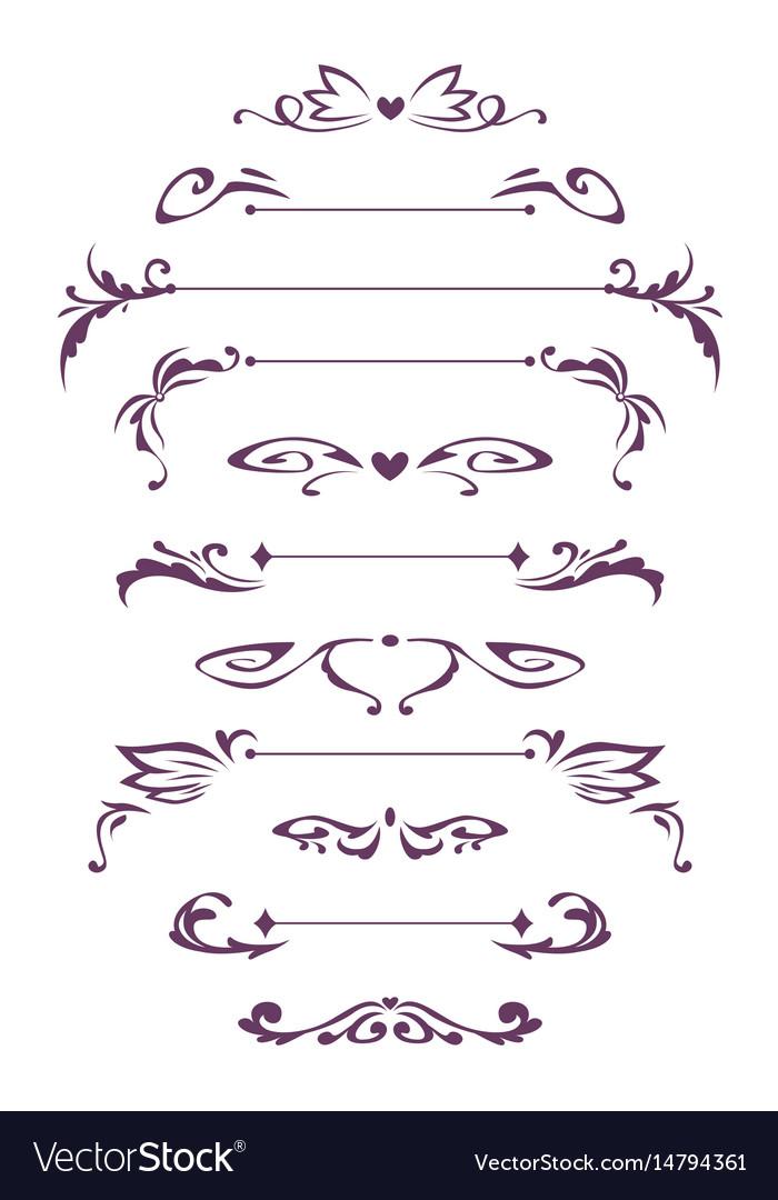 Decorative vintage design elements