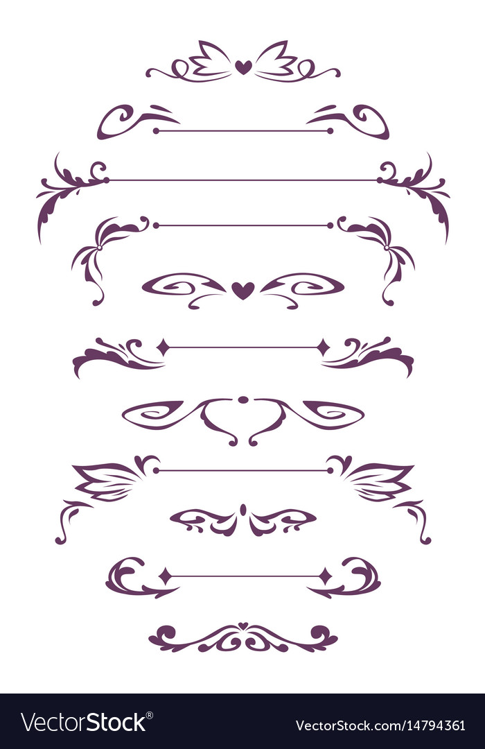 Decorative vintage design elements vector image