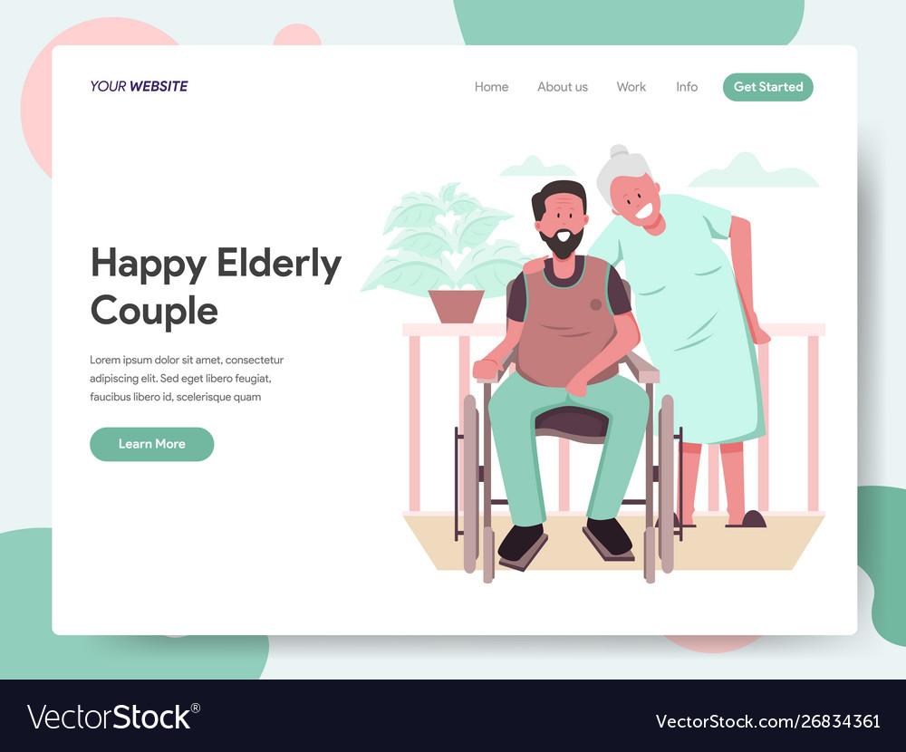Happy elderly couple concept