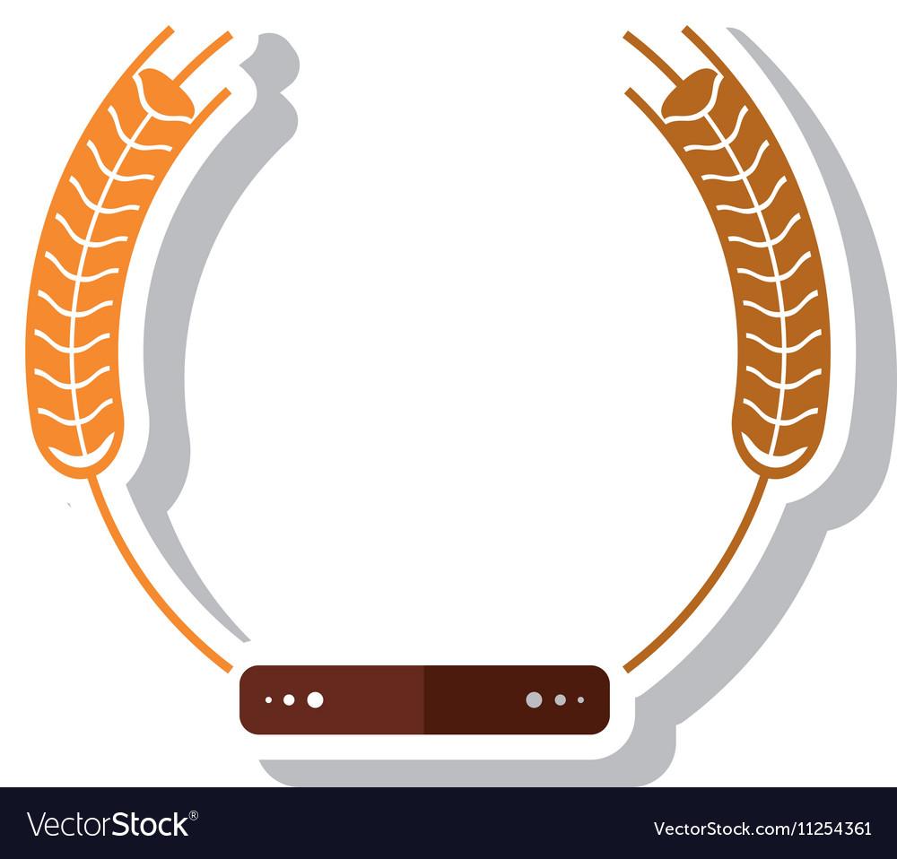 Isolated wheat ear design vector image