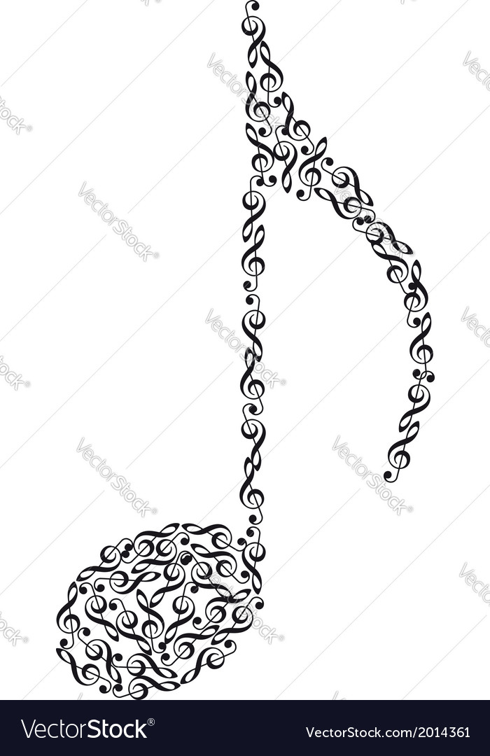 Music note from clefs vector image