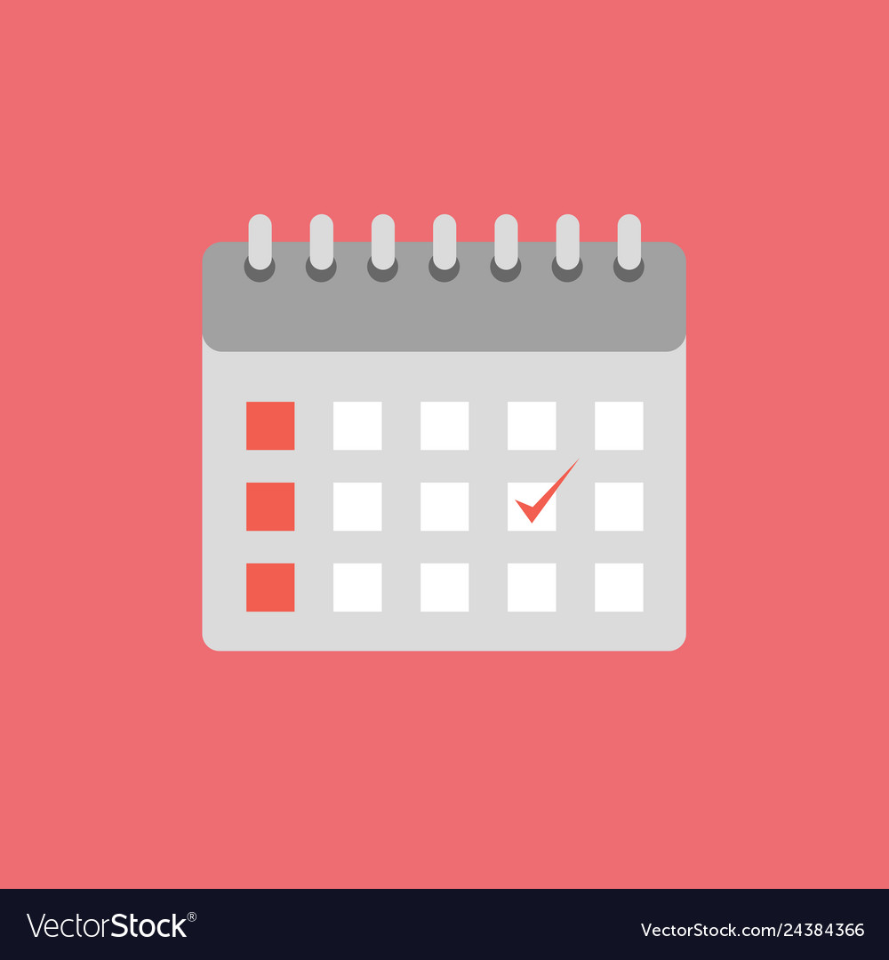 Calendar icon set of great flat icons with style