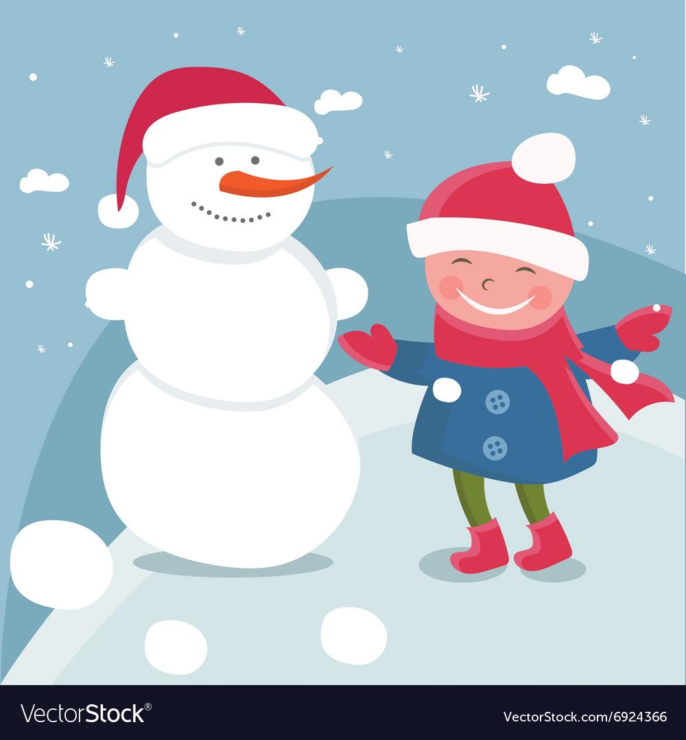 6fe0ee00fb21 Cartoon doodle girls in winter Royalty Free Vector Image