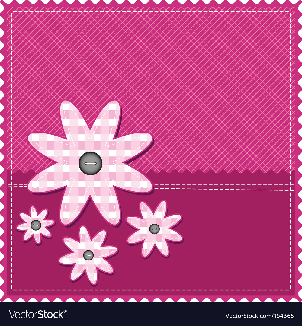 Congratulation card with flower vector image