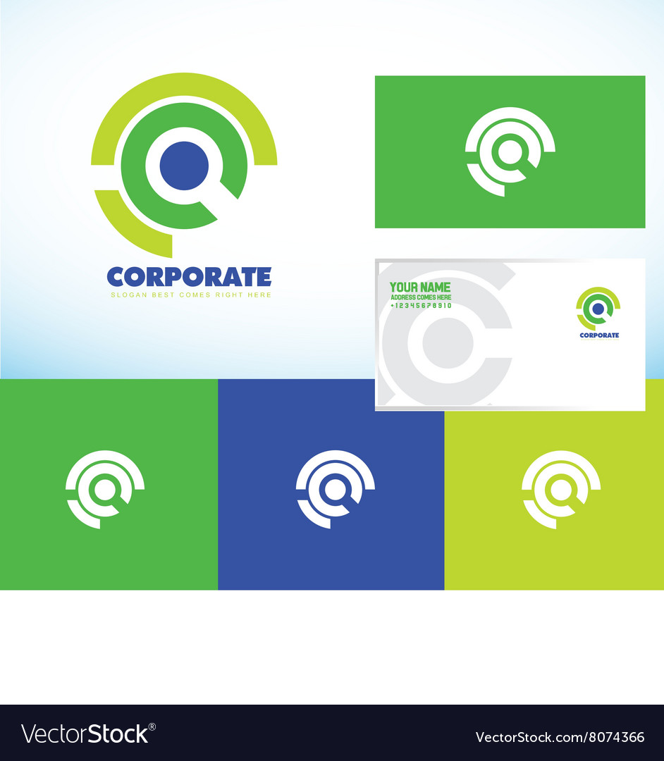 Corporate business abstract circle logo set