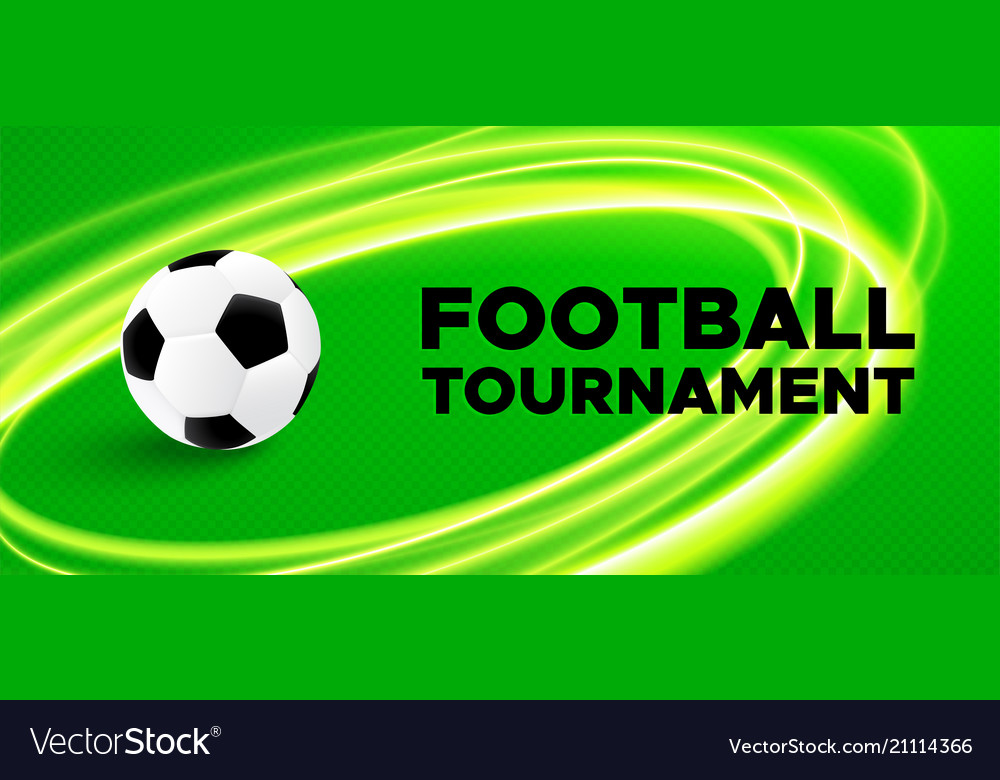 Football sport poster design with soccer ball