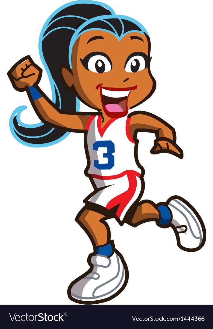 Girl Basketball Player vector image