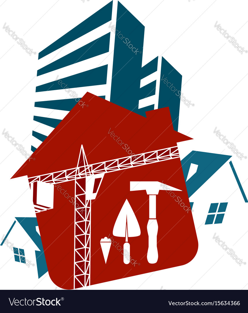 Housing construction vector image