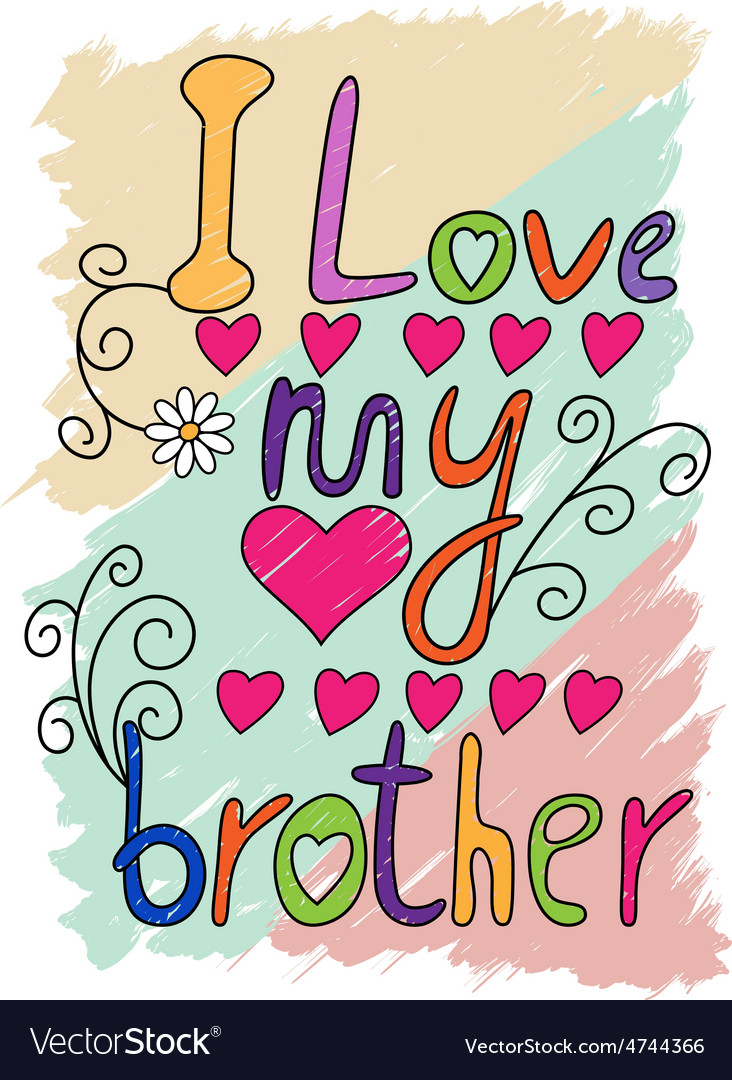 i love my brother t shirt typography vector image