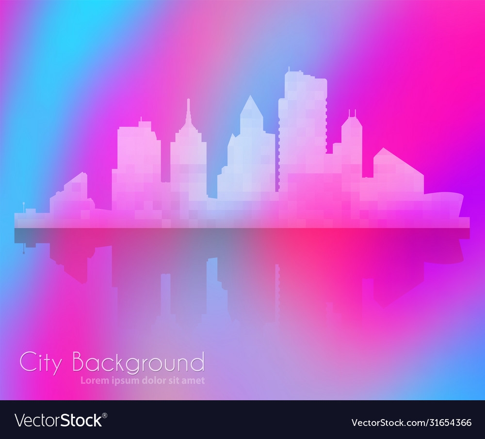 Silhouette city structure downtown urban modern