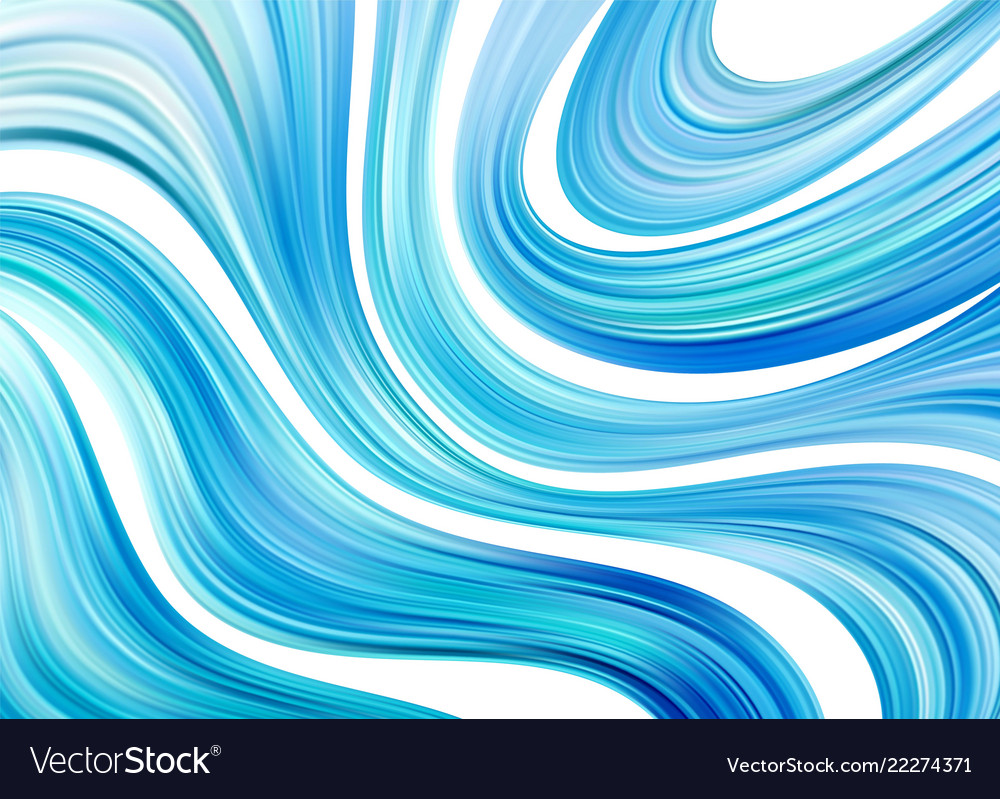 Blue color water abstract smooth wave curve flow