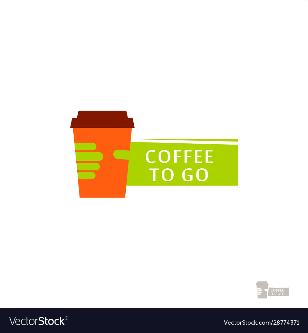 Coffee logo for a coffee shop cup glass with
