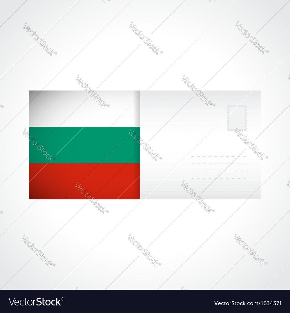 Envelope with Bulgarian flag card