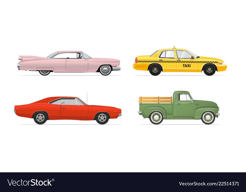 Isolated cars set