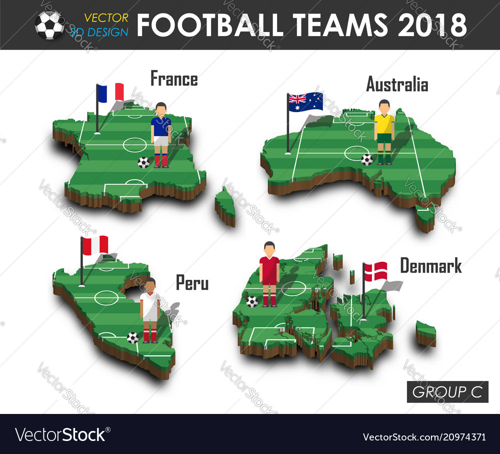 National soccer teams 2018 group c football